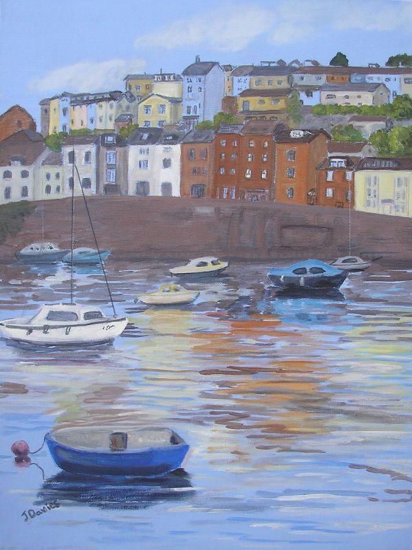 Brixham Harbour painting