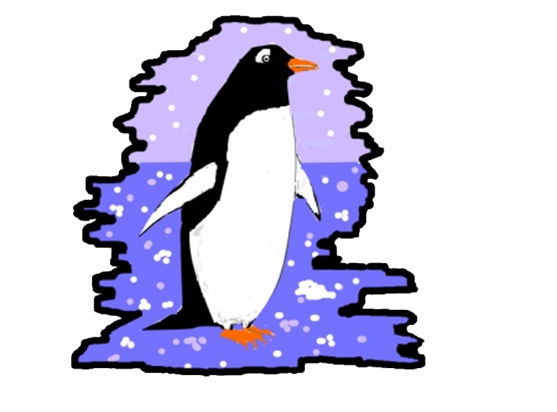 Penguin with Blue ice
