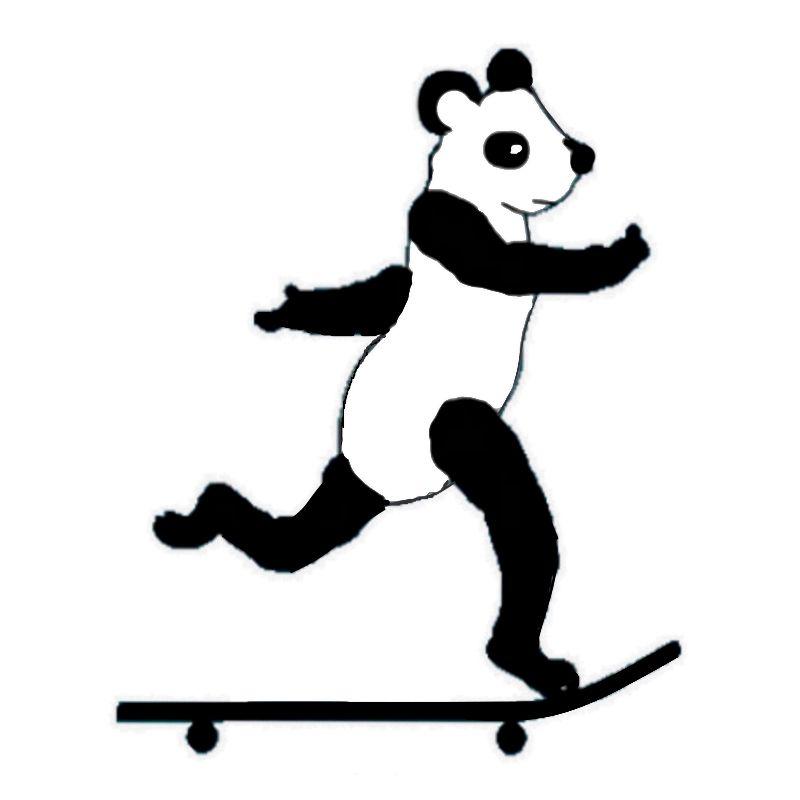 Skateboarding Panda