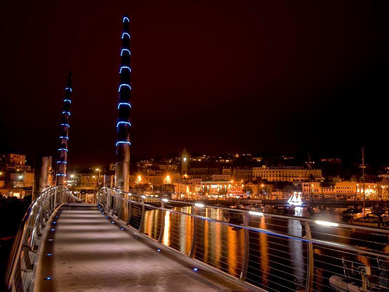 Torquay Bridge at Night