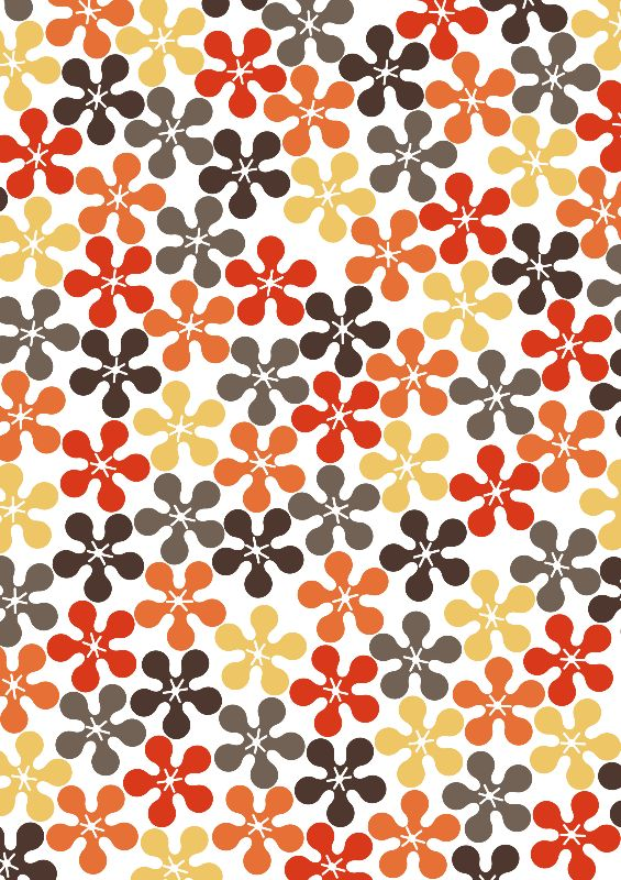 60s Hippy Flowers Pattern