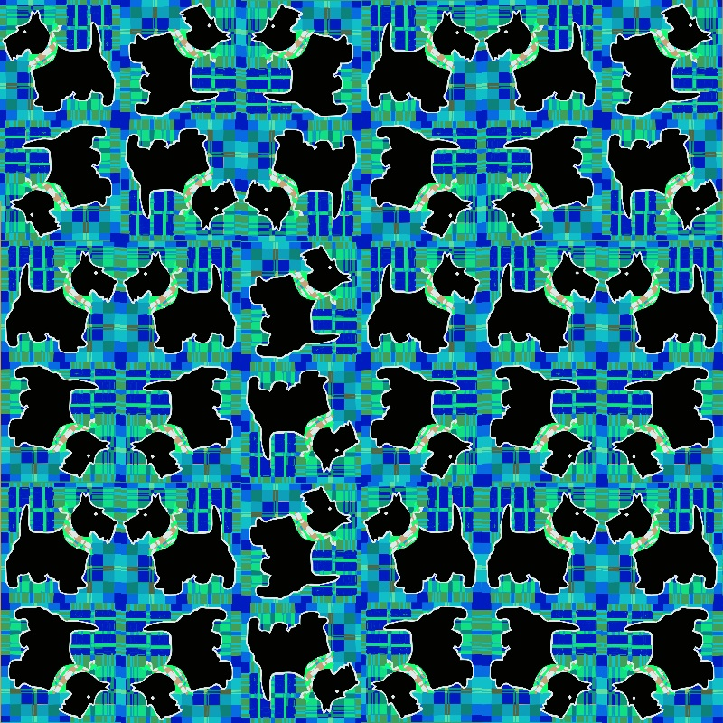 Black Scottie Dog Pattern