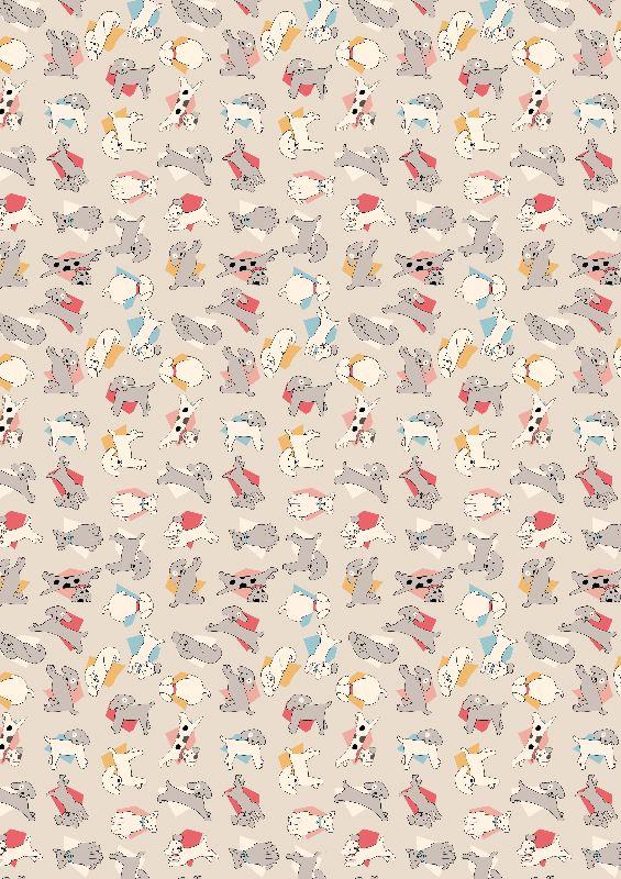 Fun Kitsch Dog Pattern