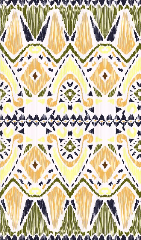 Ikat Tribal Geometric