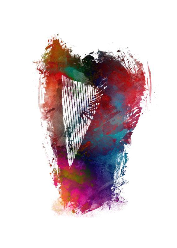 Harp music art