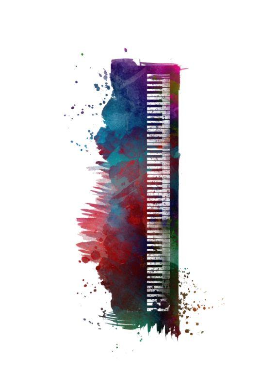 Keyboard music art