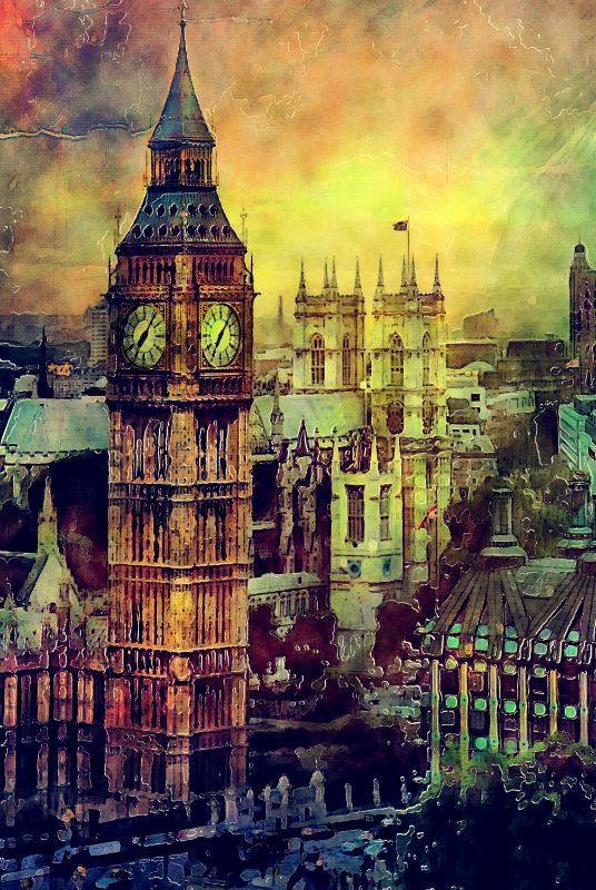 London Big Ben art
