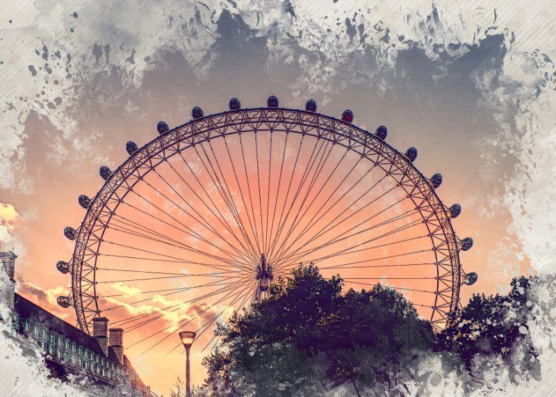 London Eye watercolor art