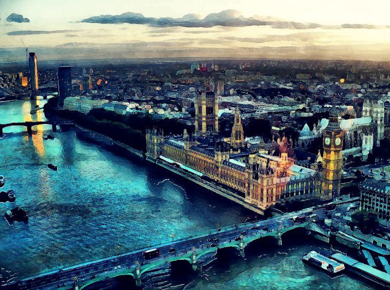 London watercolor art