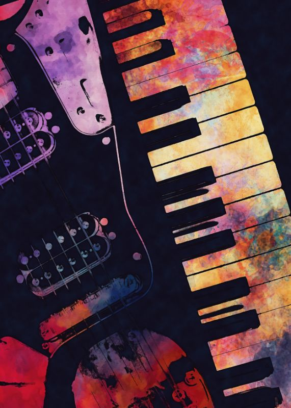 Piano and guitar art