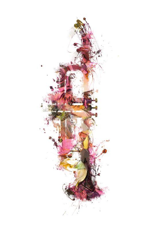 Trombone music art