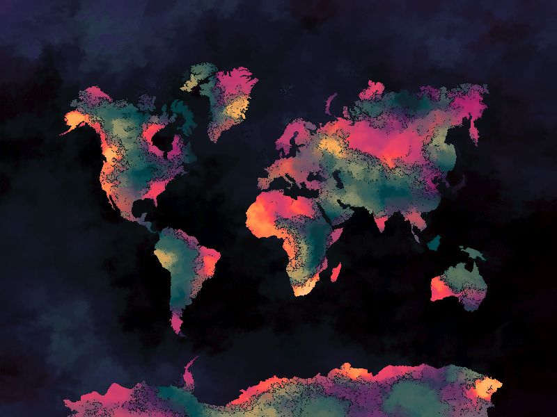 world map art 9