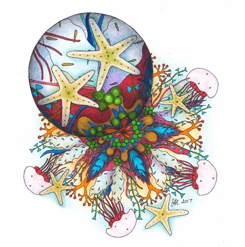 Marine Bubble Mandala