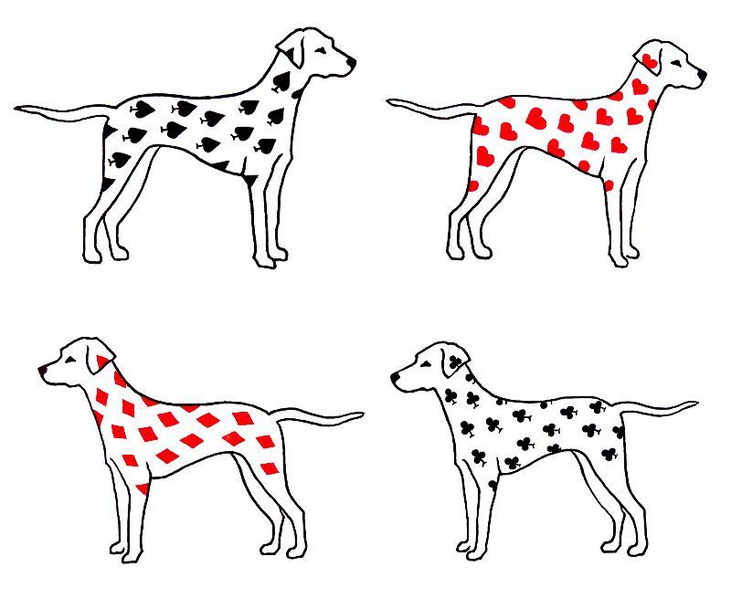 Dalmatian Dog Print  Red
