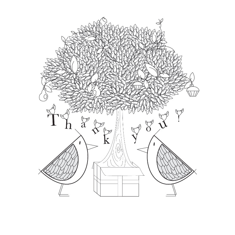 Thank you Tree with Birds