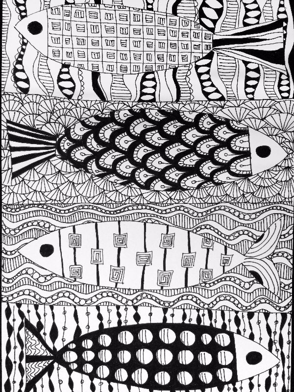 Zentangle fishes