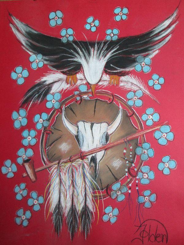 Medicine Shield Floral