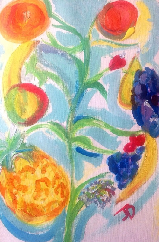 Many magical fruit tree