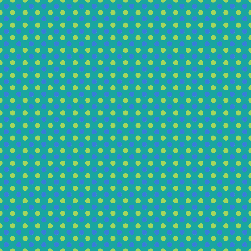 Green and Blue Polka Dots