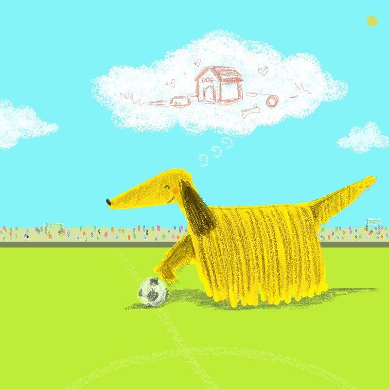 Football Dog Player