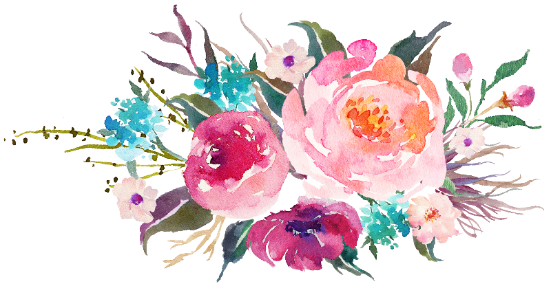 Pink Turquoise Flowers