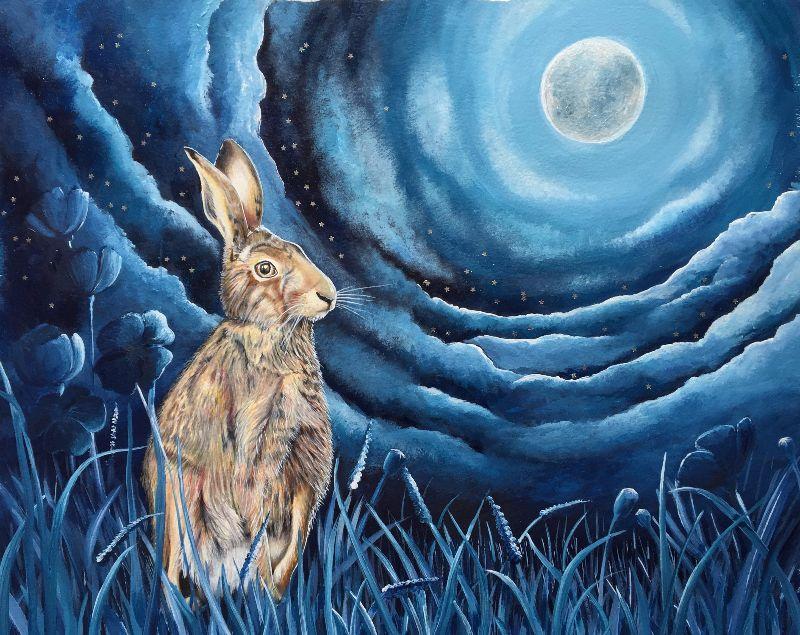 Starlit hare