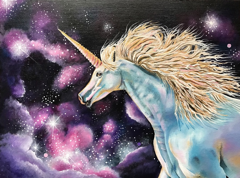 Starlit unicorn