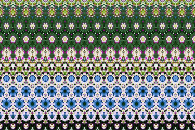 Floral ethnic pattern