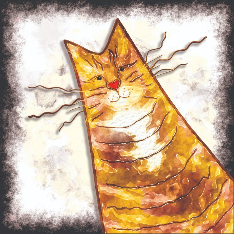 Watercolour Ginger Tabby