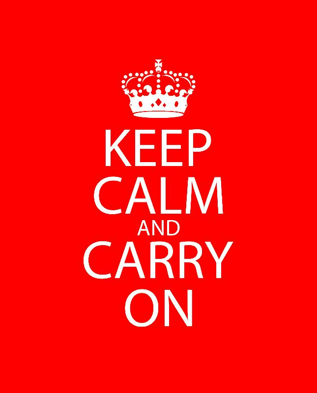 Keep Calm  Carry On Red