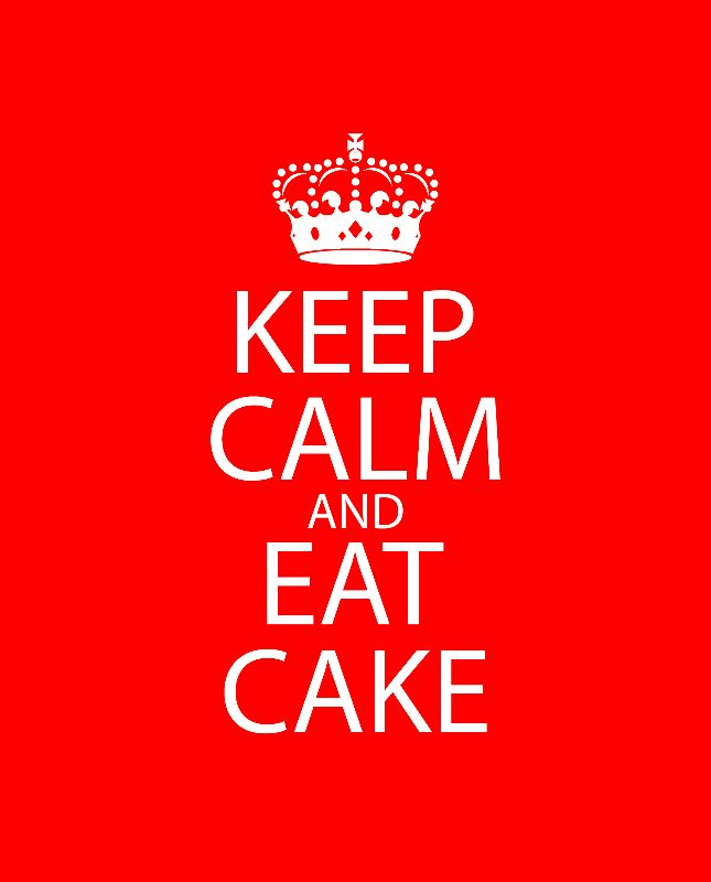 Keep Calm  Eat Cake Red