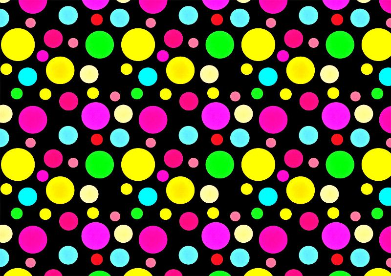Colorful neon bubbles