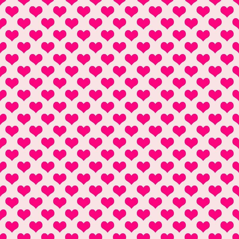 Neon pink hearts pattern