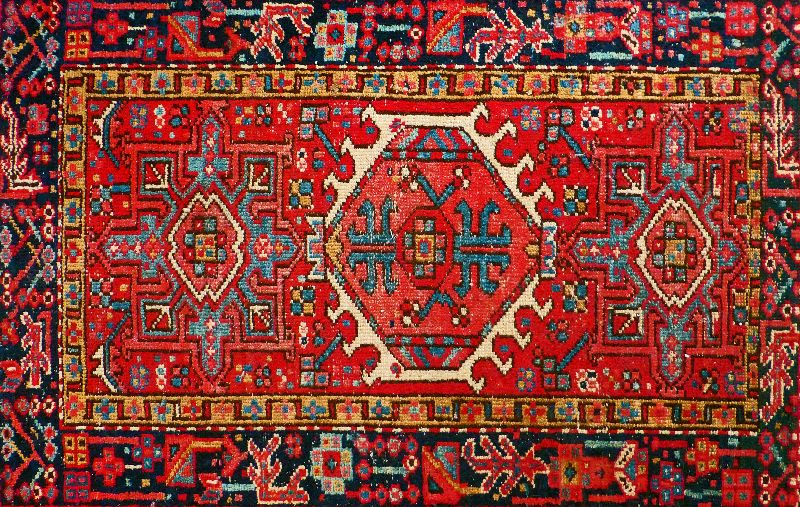 Persian carpet faux look