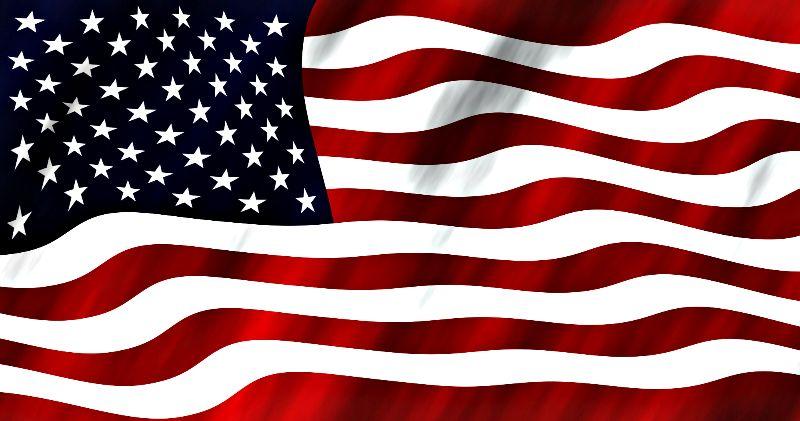 USA flag fluttering