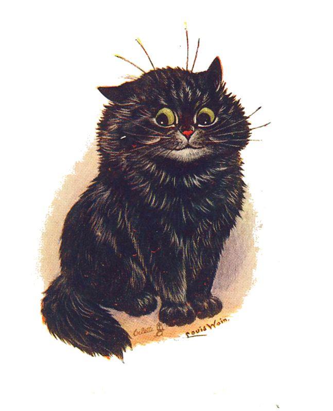 Vintage black cat