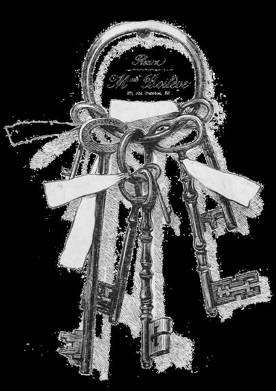 Vintage rustic key