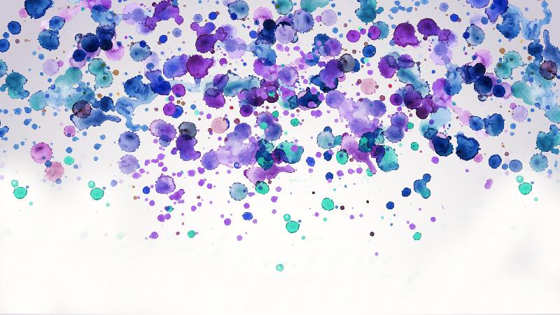Watercolors ink splatter