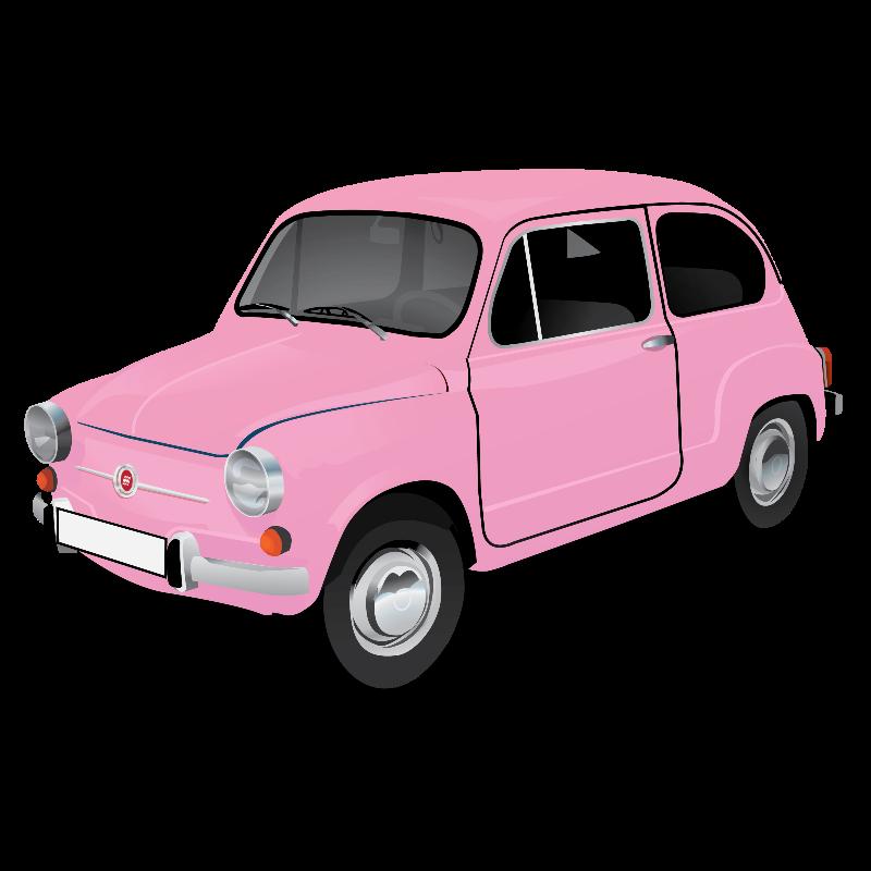 Fiat 600 pink