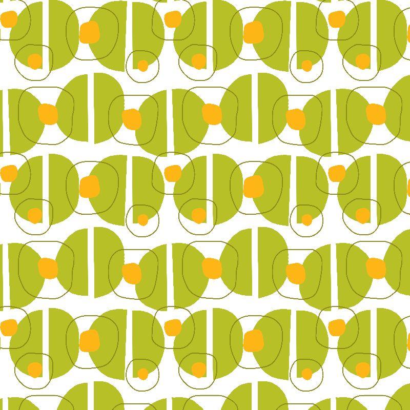 Green blob retro pattern