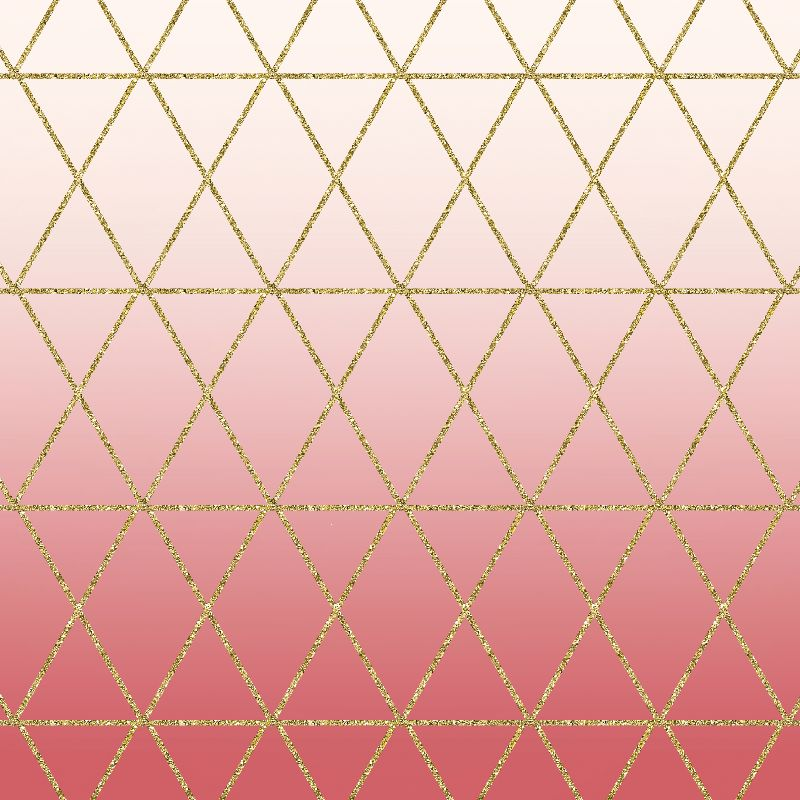 Rose Gold Geometric