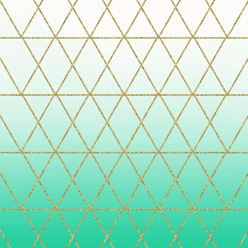 Turquoise and Gold Geo