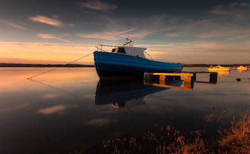 Estuary boats Wales