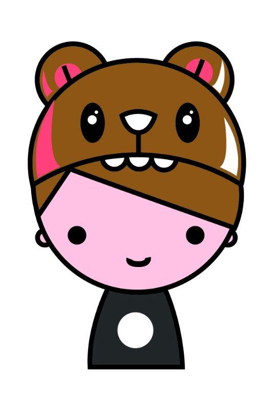 Kawai Brown Teddy Hat