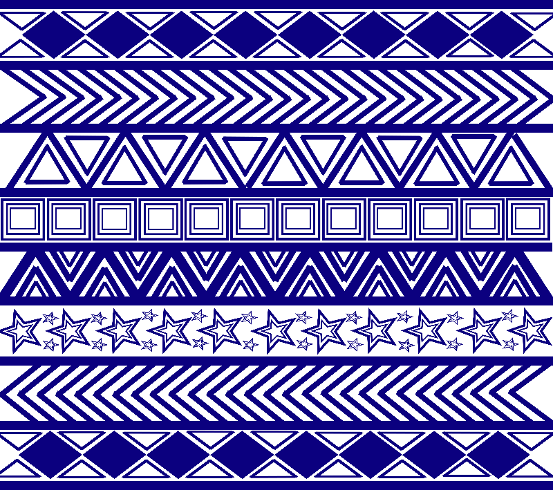 Blue Tribal Art Pattern