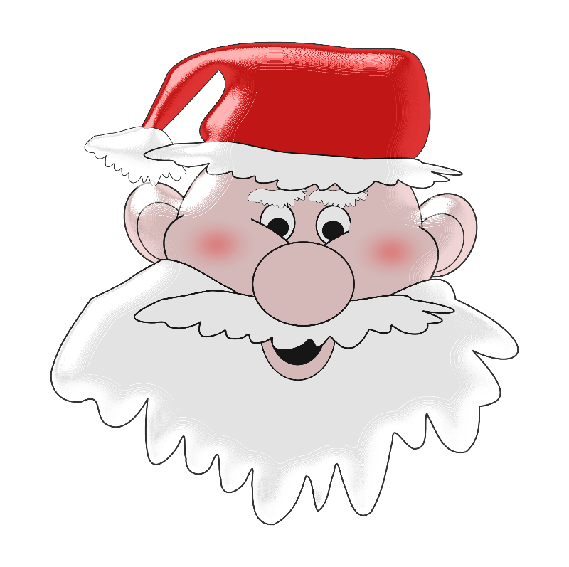 Jolly Santa Face