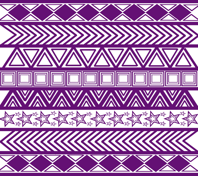 Purple Tribal Art Pattern