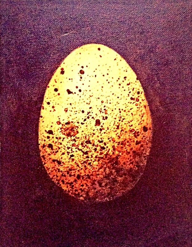 Gold egg easter
