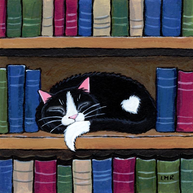 Book Love Tuxedo Cat