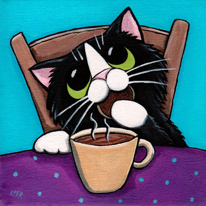 Tea Break Cat